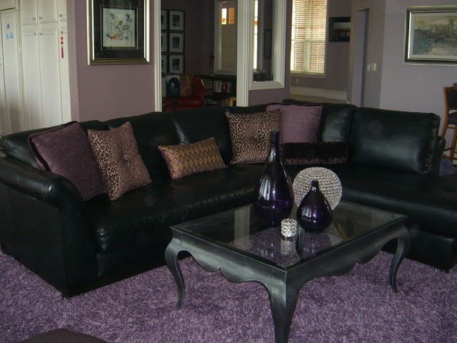 Purple Passion! contemporary-family-room