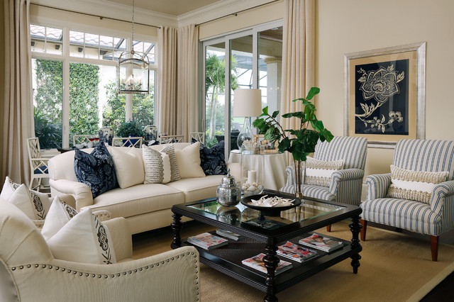Quail West Brentano Traditional Family Room Miami