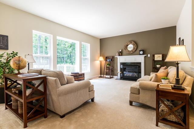 Quaker Hill New Home Community Model Home Family Room