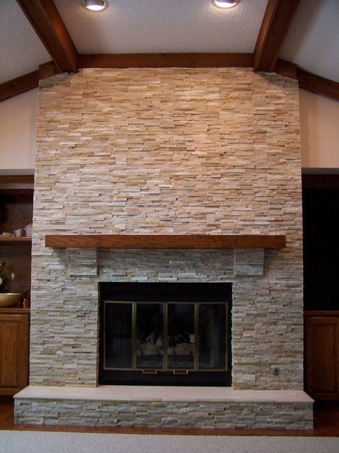 Quartz Fireplace Chase Traditional Family Room Other