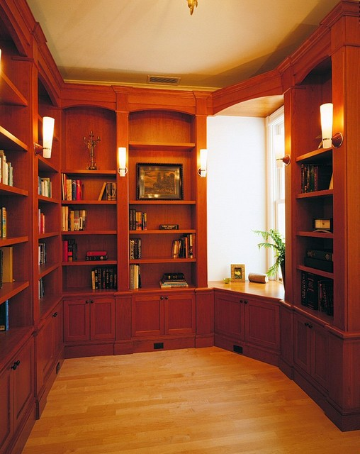 R-E-S-P-E-C-T study traditional-family-room