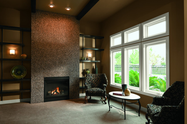 Room With Casement Windows : Ranch home style contemporary family room