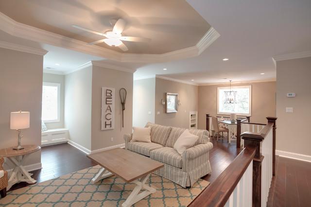 Example of a coastal family room design in Atlanta