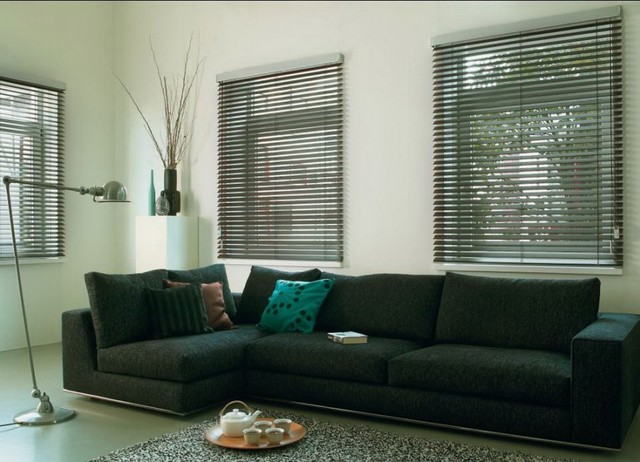 Real Wood Blinds modern-family-room