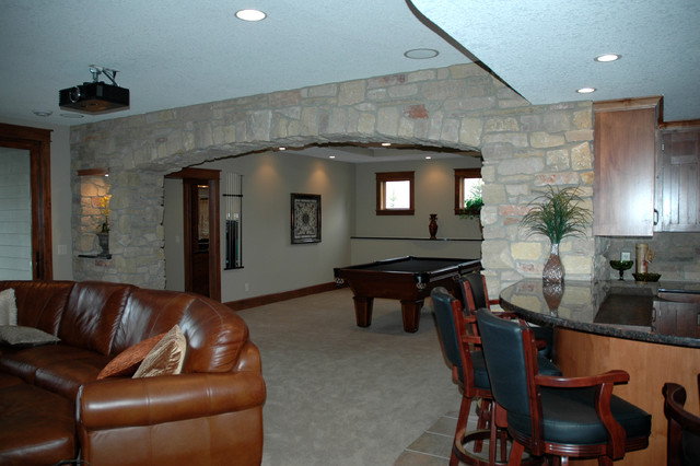 Rec Room By Mike Behr Behr Design Inc Traditional Family Room