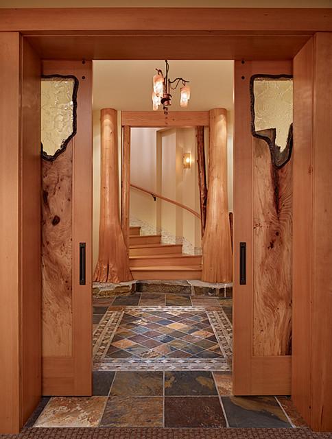 Rec-room Doors of Cedar Haven Home contemporary-family-room