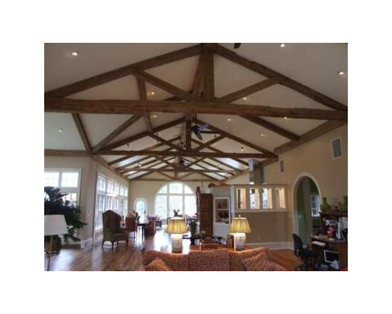 Reclaimed Barn Beams Projects in NYC, New Jersey & CT - Reclaimed Wood Interior Truss