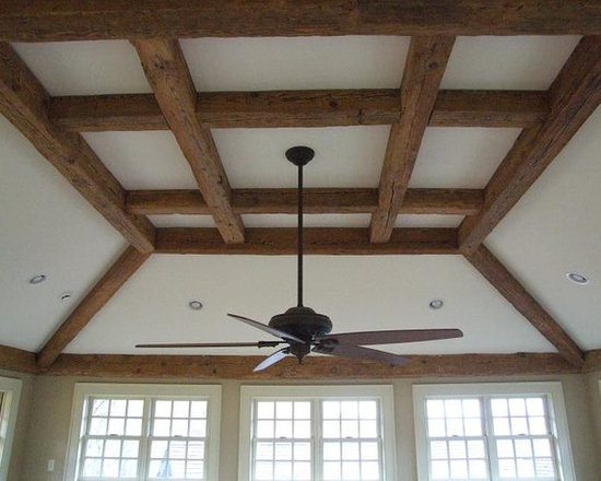 Reclaimed Barn Beams Projects in NYC, New Jersey & CT - Decorative Trim and Wood Beams left Natural