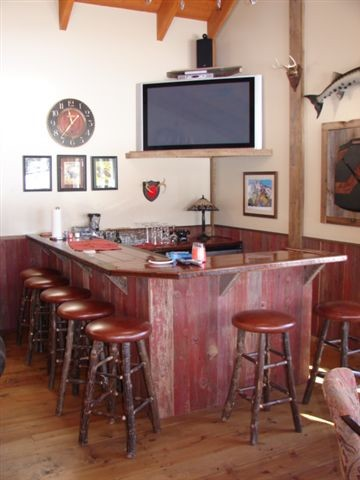 Reclaimed Barnwood Bar - Rustic - Family Room - Other - by ...