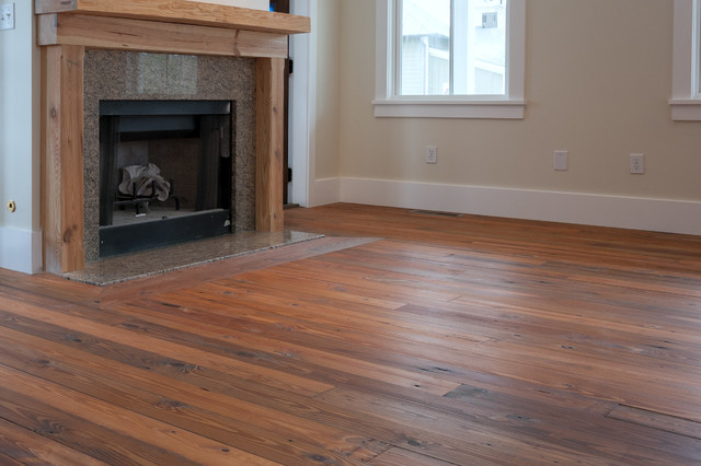 Reclaimed Wide Plank Flooring Traditional Family Room