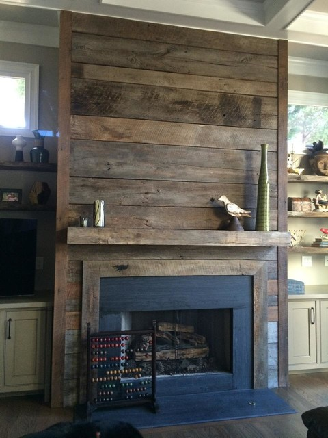 Reclaimed Wood Fireplaces In Atlanta Rustic Family Room Other By Atlanta Specialty Woods