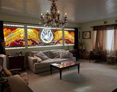 Recreation Room Window eclectic-family-room
