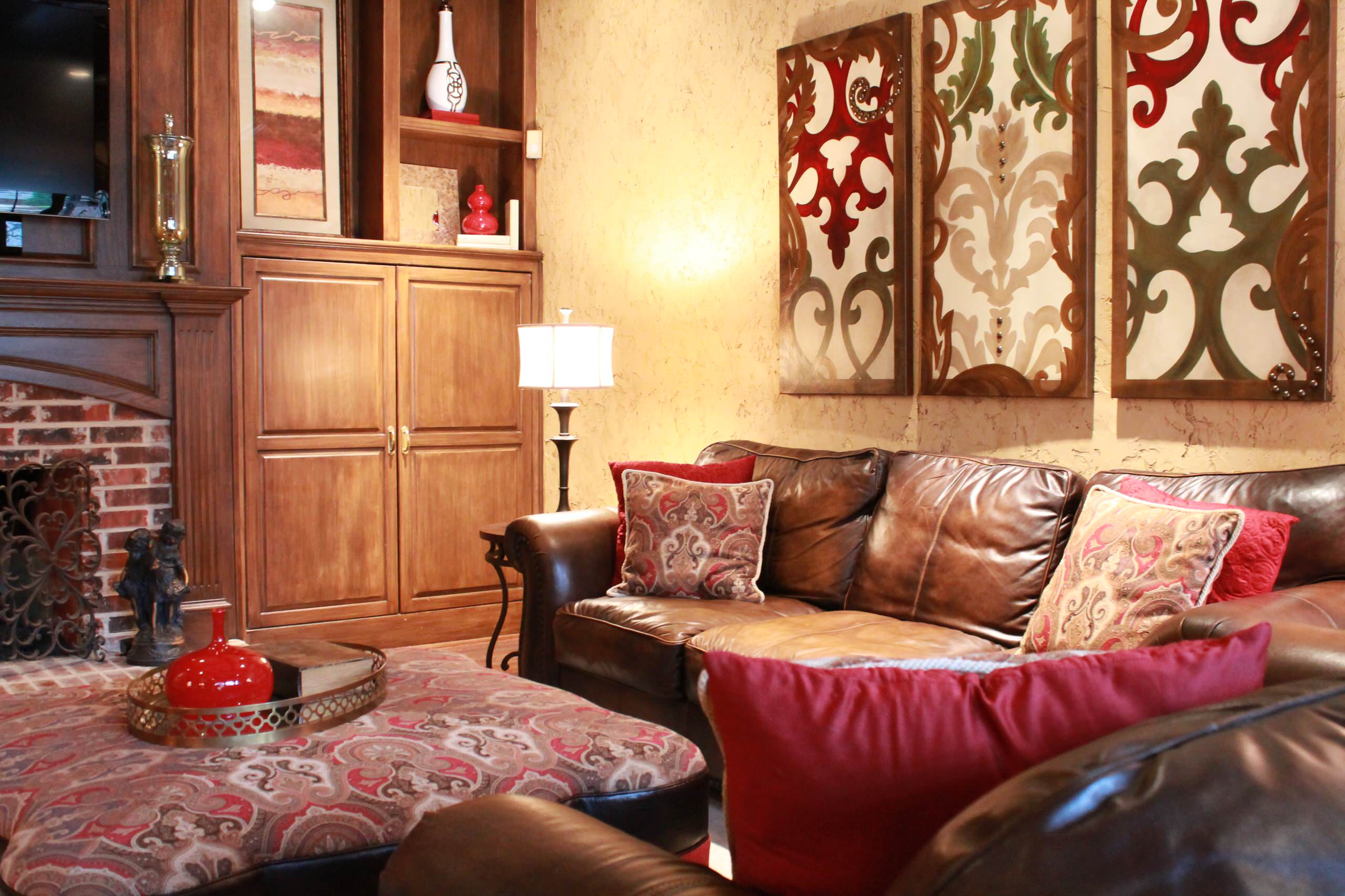 Red And Gold Living Room Houzz