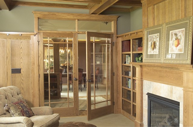 Red Oak 9 Lite Prairie Style Glass Door - Traditional - Family Room - minneapolis - by Stallion ...