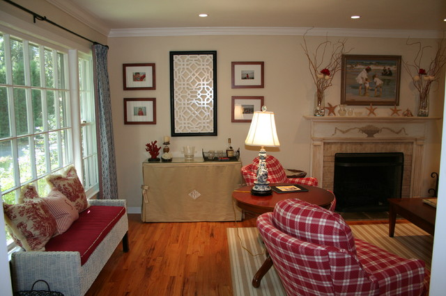 Red, White, Blue, Camel = Revived Living Room - Traditional ...