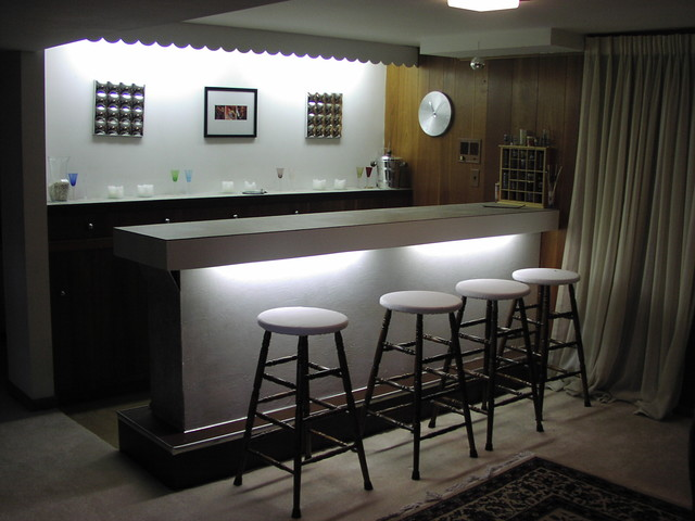 Redesigned art decor inspired bar - Home bar room ideas ...