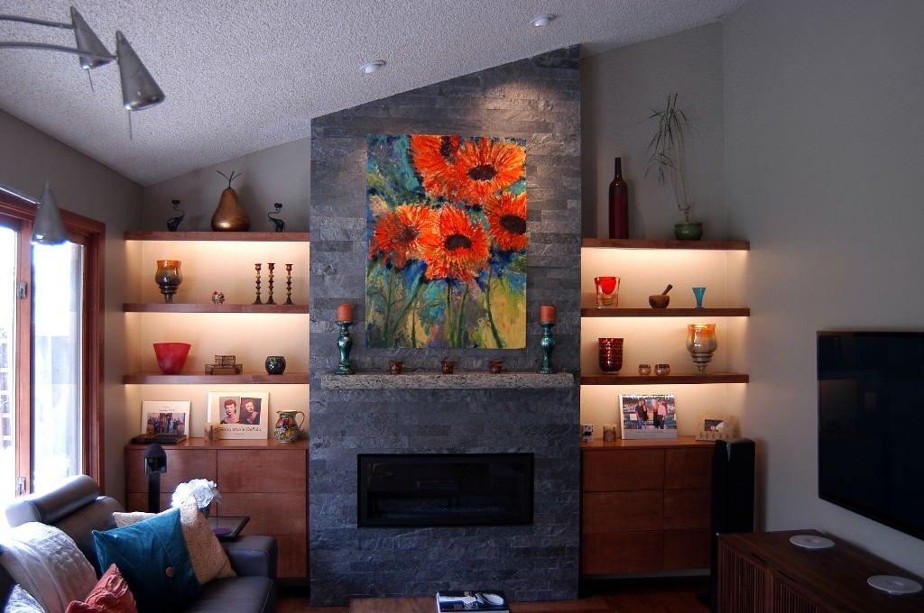 Redwood Shores fireplace