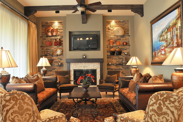 traditional media room by Regency Interior Design,LLC