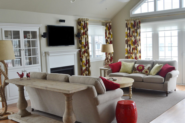 Relaxed Living Room Avalon Nj Beach Style Family