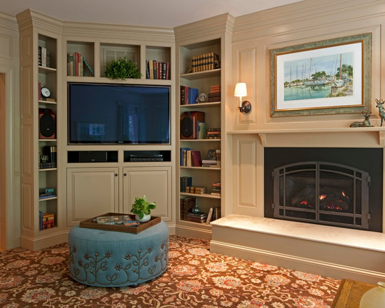 7,100 furniture placement around corner fireplace Home Design Photos