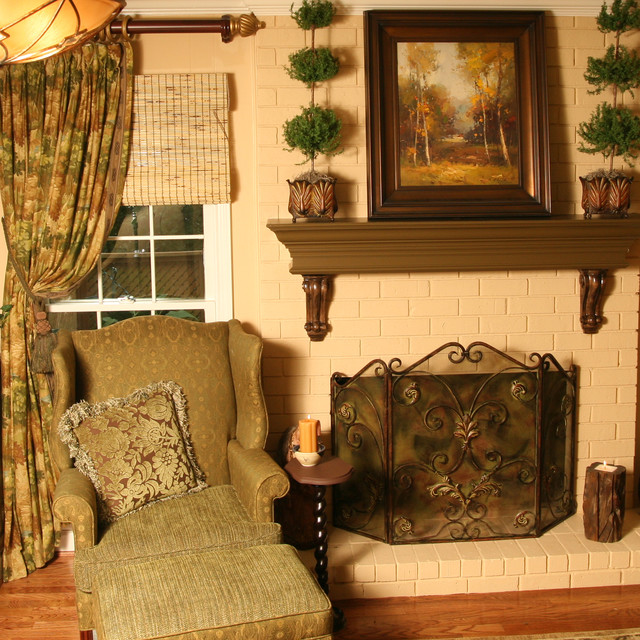 Rich Masculine Reading Room traditional-family-room