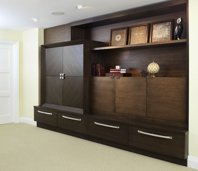richmond hill project - basement wall unit - contemporary - family