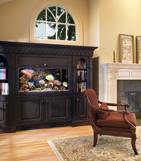 Gothic Aquarium - Traditional - Family Room - other metro - by The Hammer & Nail, Inc.