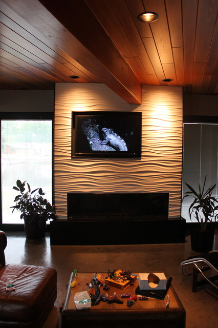 River contemporary-home-theater