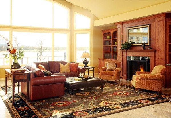 Rivershore traditional family room