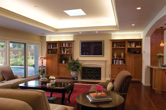 Traditional Family Room By HartmanBaldwin Design Build