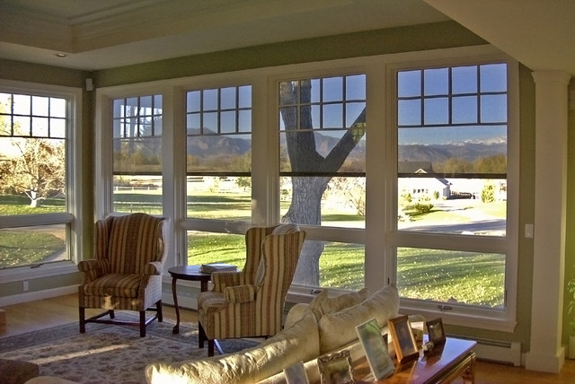 Roller Shades Solar Shades Outdoor Shades Traditional Family Room Indianapolis By