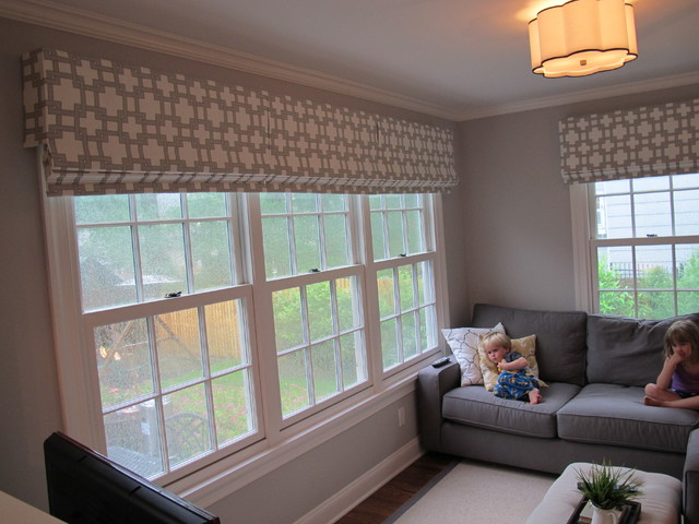 Roman shades contemporary family room new york by - Roman shades for kids room ...