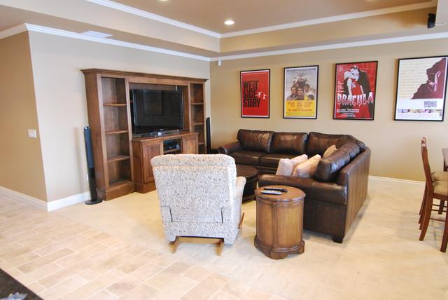 Romeo Basement traditional-family-room