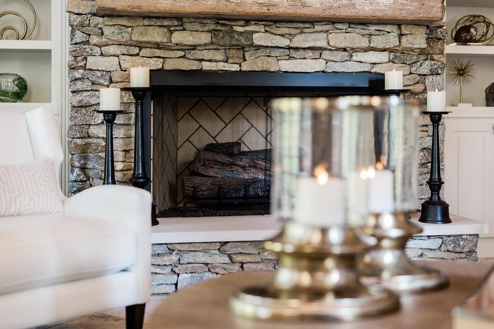 Ross Bridge Custom Fireplace and Mantle