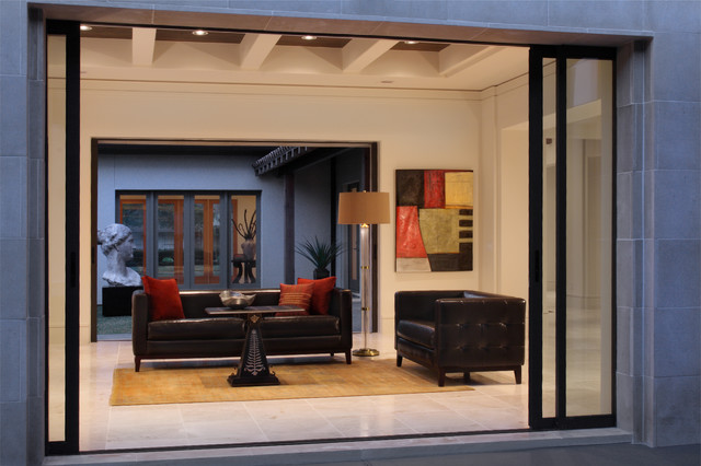 Royden Oaks-Eclectic eclectic-family-room
