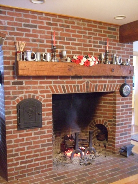 Rumford Fireplaces Farmhouse Family Room Bridgeport