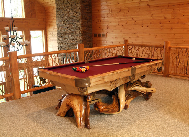 Rustic Game Room Rustic Family Room