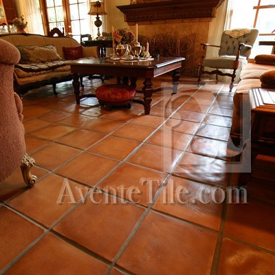 rustic living room tile floor designs | Rustic Pavers for Indoor Living Areas, Great Rooms ...