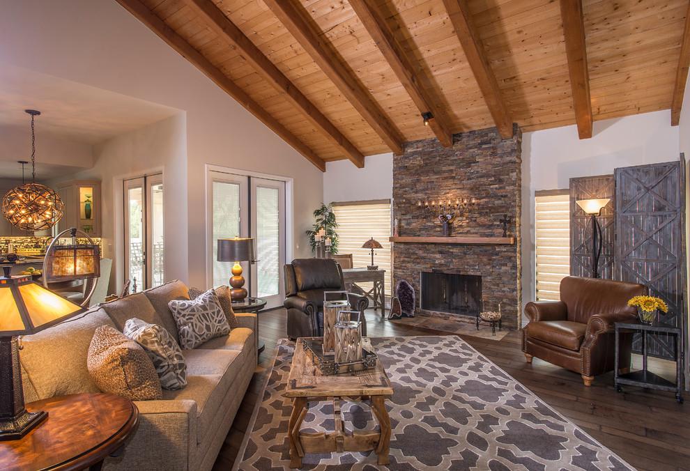 Rustic Re Design Glendale Az Rustic Family Room Phoenix By La Z Boy Home Furnishings Decor Of Arizona