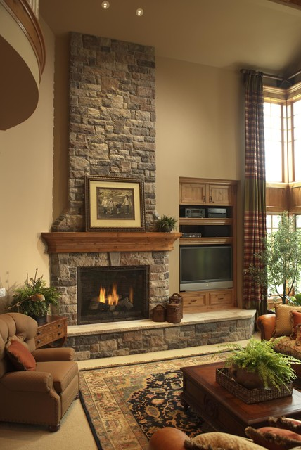 Rustic Stone Fireplace Delectable Rustic Stone Fireplace Inspiration Design