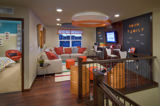 Ryland homes pioneer ridge modesl contemporary family for Kid friendly family room design