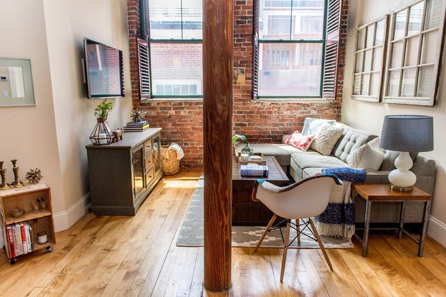 Salem Ma Apartment Industrial Living Room Boston