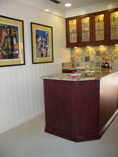 Salute To New Orleans Small Bartransitional Family Room Miami