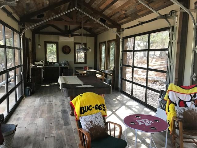 Family room - rustic family room idea in Austin