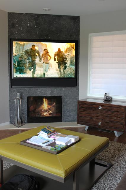 Sands Point Media Room modern-family-room