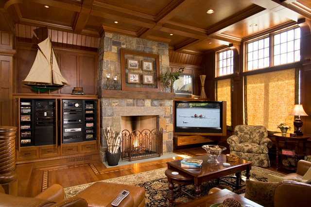 Saratoga Home - Traditional - Family Room - New York - by AMBIANCE SYSTEMS