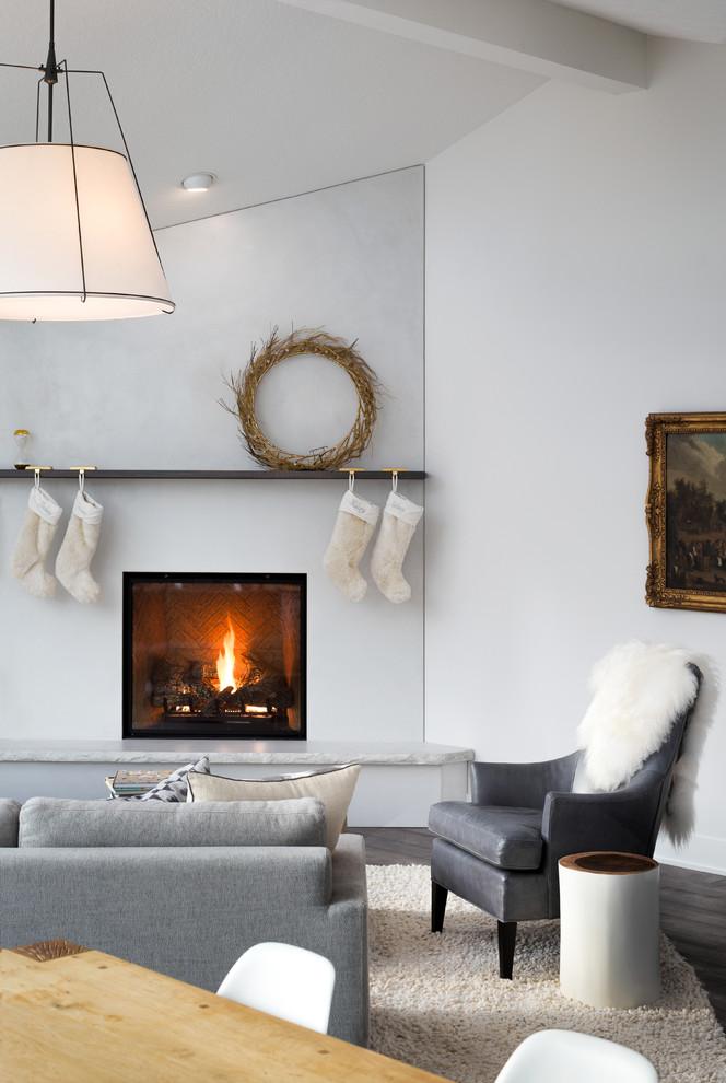 Large danish home design photo in Portland