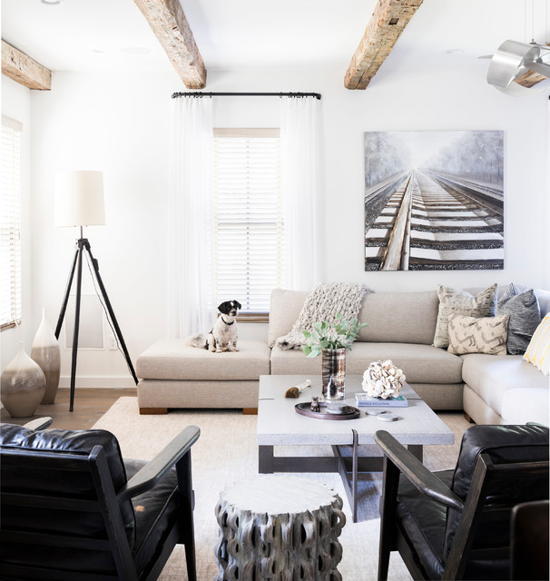Scarsdale Modern Industrial Vibe - Rustikal - Wohnzimmer ...