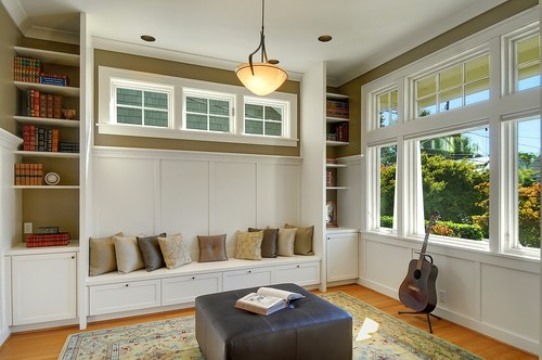 Built ins for Craftsman style office