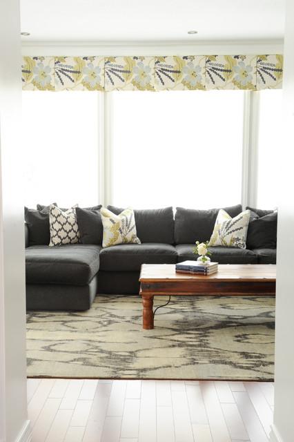 Serene Family Home Transitional Family Room